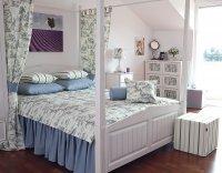 Sypialnia na poddaszu, kolekcja tkanin Avinion