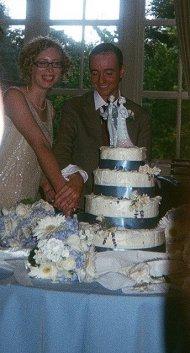 para młode na weselu, tort weselny
