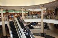 Ruchome schody w galerii handlowej