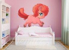 Pokój dziecka, naklejka na ścianę kucyk